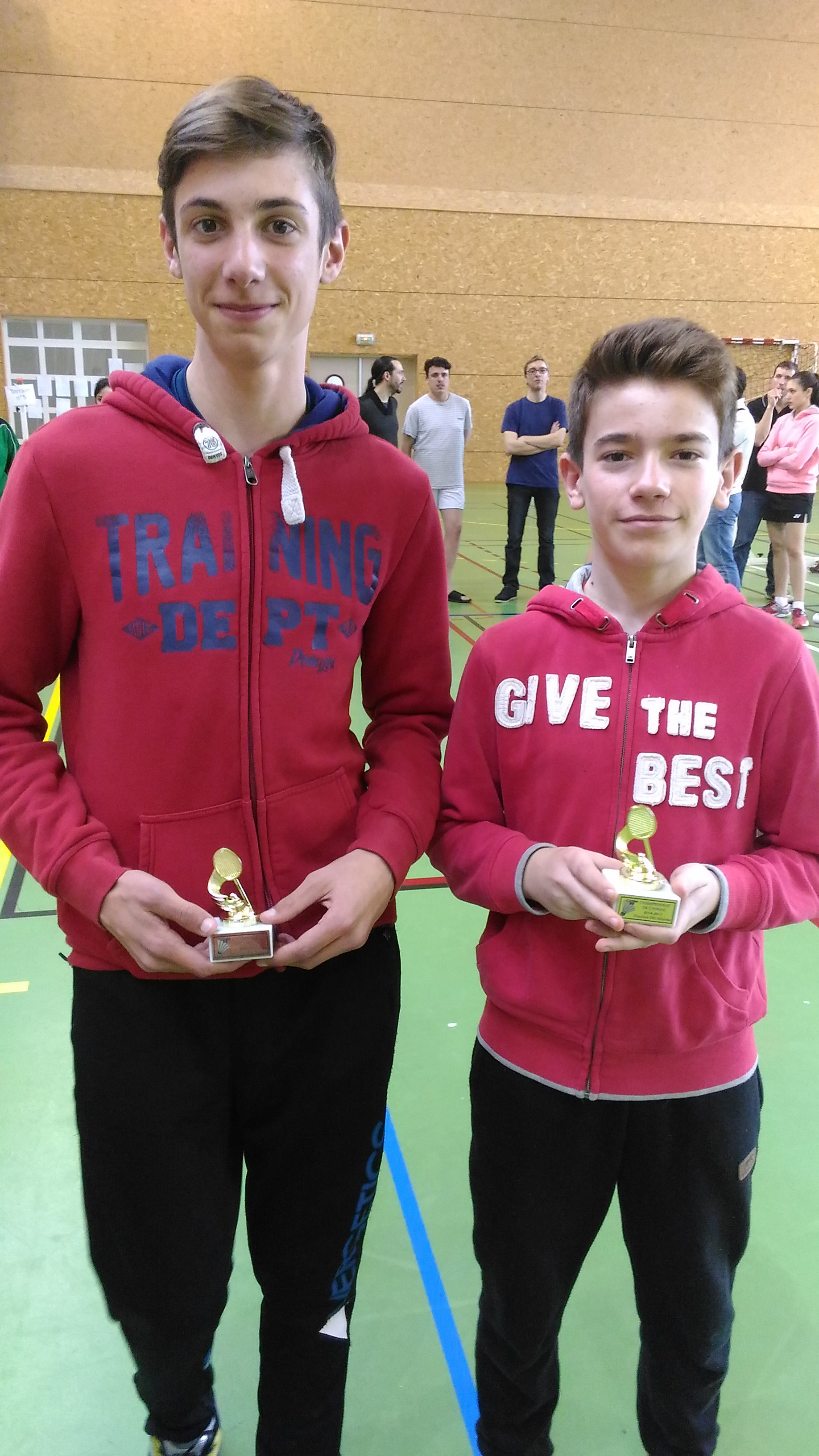Vice-Champion Double Hommes Minimes