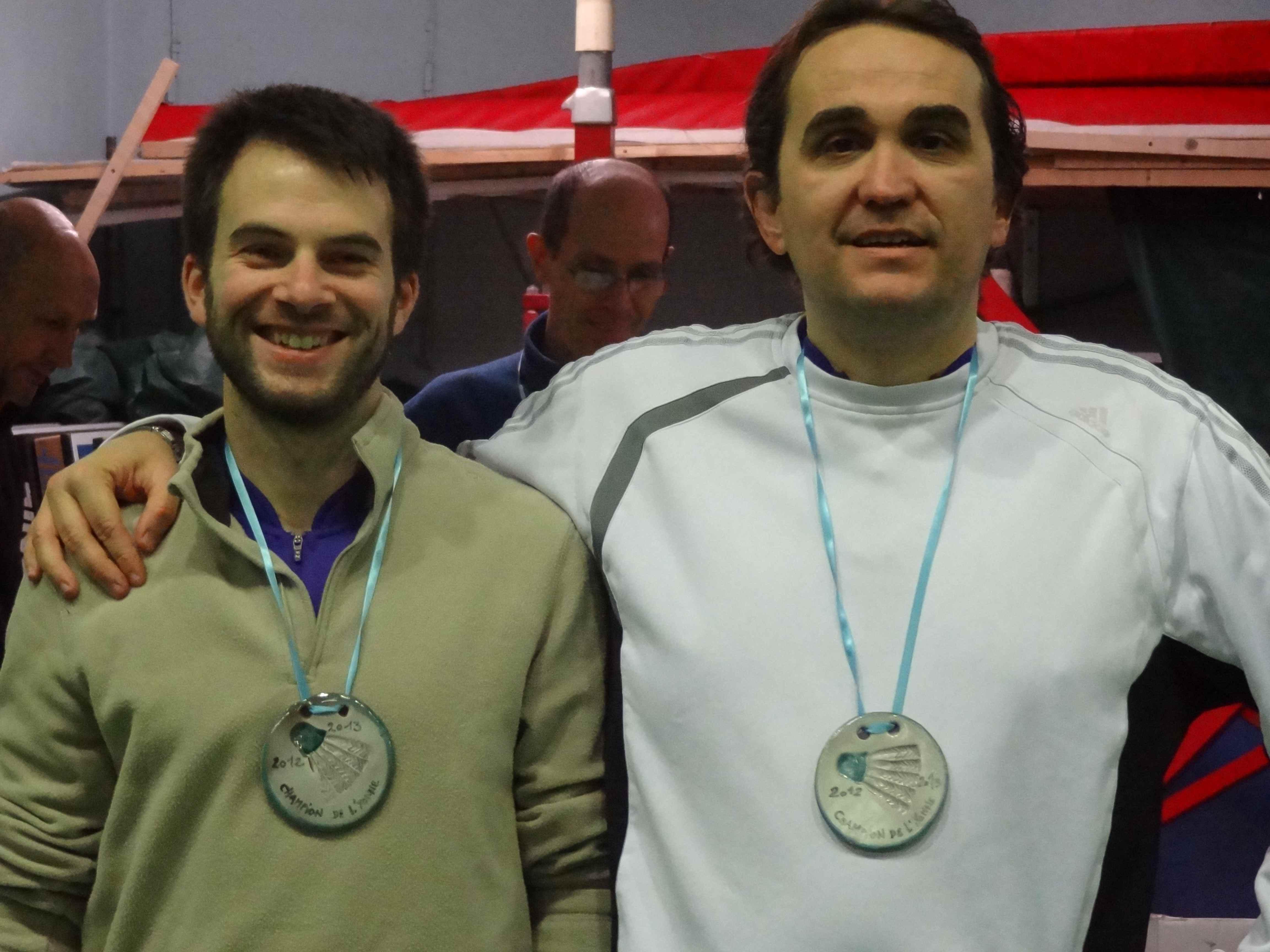 Champions de l\'Yonne en Double Hommes C 2012-2013