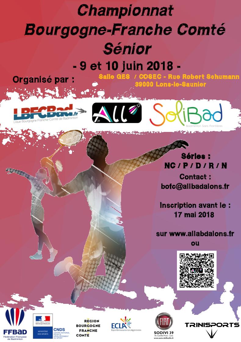 Championnats Seniors de Bourgogne Franche-Comté 2018